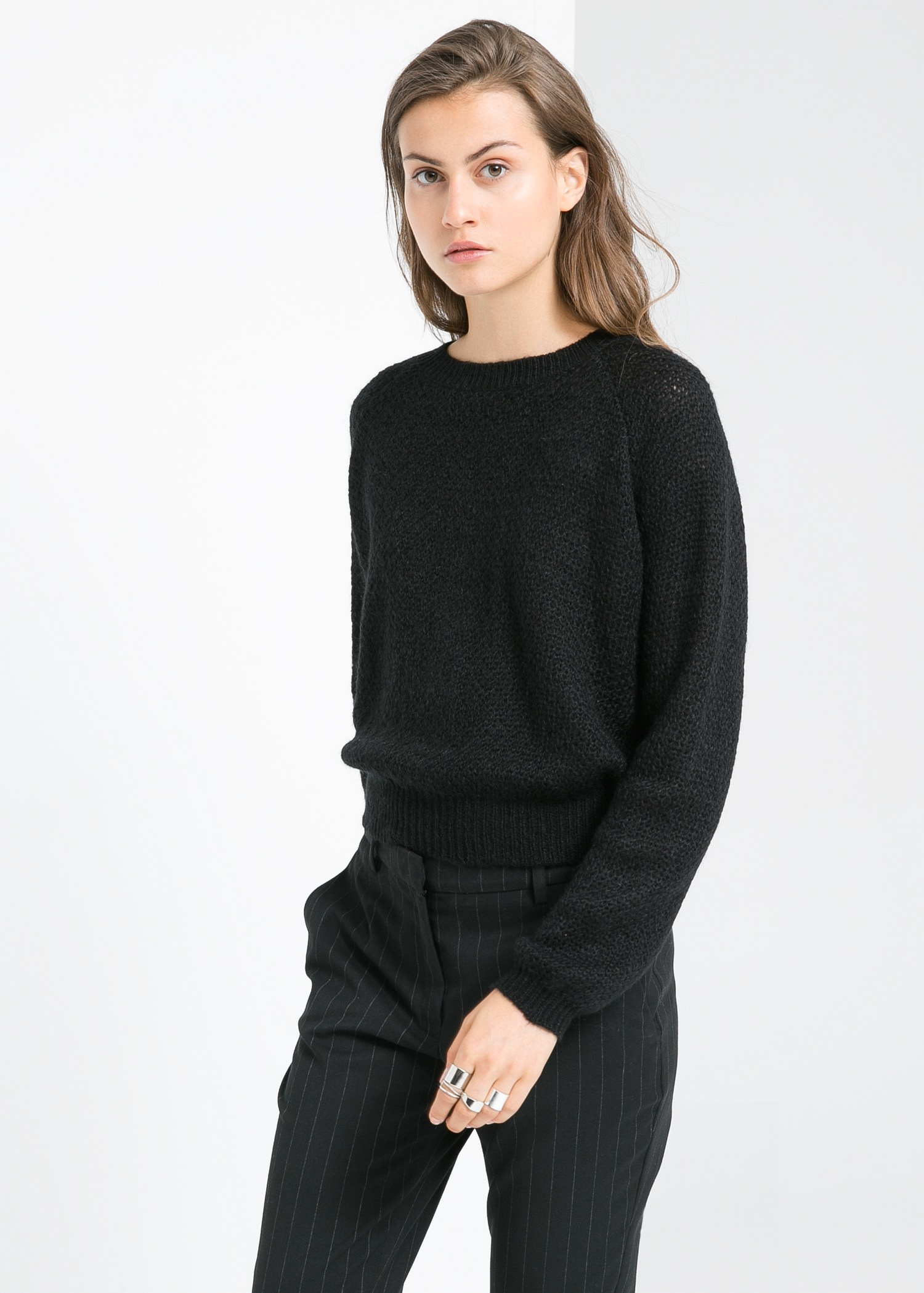 Mohair wool-blend sweater - Cardigans and sweaters for Women | MANGO