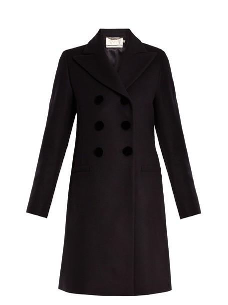 Goat coat wool navy