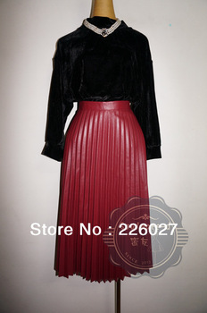 2013 winter women brand vintage long leather skirts maxi long skirts, women winter skirt-in Skirts from Apparel & Accessories on Aliexpress.com