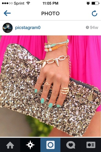 bag prom clutch sequins sparkles jewels
