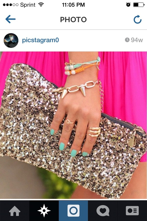 bag prom clutch sequins sparkle jewels