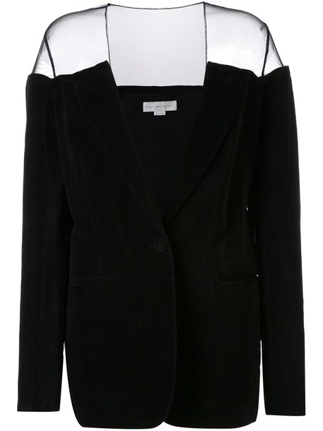 Stella McCartney blazer transparent women cotton black jacket
