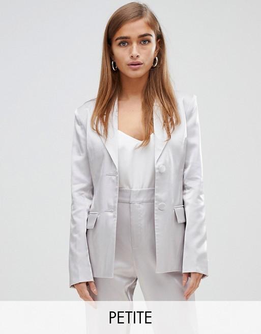 Fashion Union Petite metallic blazer two-piece at asos.com