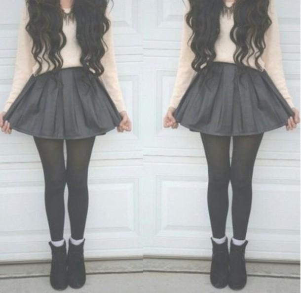 shoes clothes skirt shirt