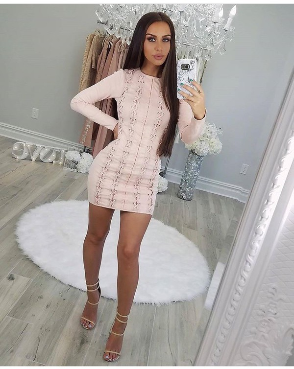 dress outfit outfit idea summer outfits cute outfits spring outfits date outfit party outfits sexy party dresses short party dresses club dress clubwear special occasion dress long sleeves long sleeve dress pink dress summer dress cute dress sexy dress short dress party dress fashion style stylish trendy shoes sexy shoes party shoes cute high heels cute shoes summer shoes clubbing  shoes heels high heels strappy heels nude heels nude high heels ankle strap heels pumps high heel pumps mini dress