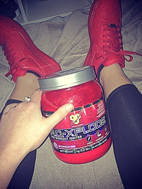 shoes red nike