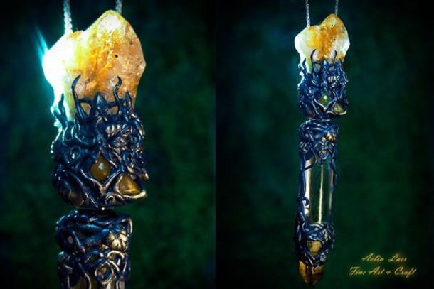 jewels elvish necklace fantasy