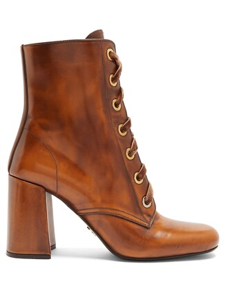 leather ankle boots ankle boots lace leather tan shoes