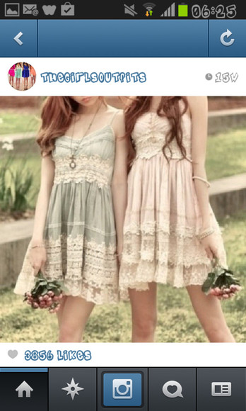 dress spring summer both beautiful cotton pasel laced