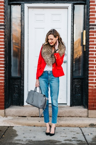 see jane blogger jacket jeans