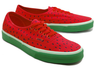 Rakuten: VANS AUTHENTIC (WATERMELON PRIINT) HIGH RISK RED BLACK vans authentic print water melon watermelon red black classic line- Shopping Japanese products from Japan