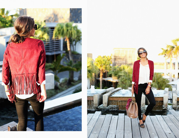 fringes seams for a desire blogger jacket jeans bag sunglasses