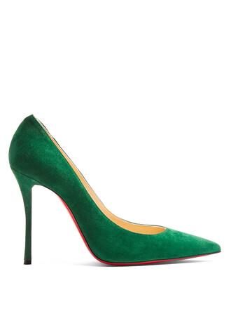 suede pumps pumps suede green shoes