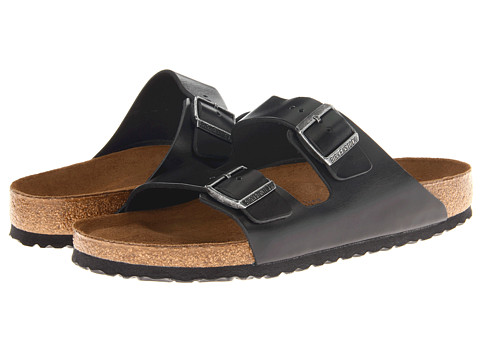 Birkenstock Arizona Soft Footbed - Leather (Unisex) Black Amalfi Leather - Zappos.com Free Shipping BOTH Ways
