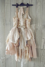 dress,boho,indie,free people,lace dress,light colors,ruffle,beige dress,ripped dress,pink dress,white dress,cream dress,natural,natural kei,mori,mori kei,nature,ribbon,corset,short dress,fairy,nymphet,mori girl,fairy kei,forest,forest girl,princess dress,nude dress,kawaii,classic,corset dress,lace up dress,vintage dress,light pink dress
