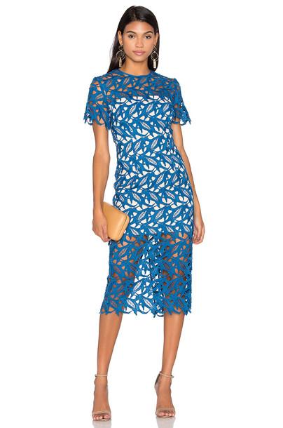 Keepsake dress lace dress lace blue