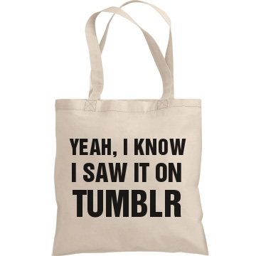 Yeah I Know I Saw It: Custom Liberty Bags Canvas Bargain Tote Bag - Customized Girl