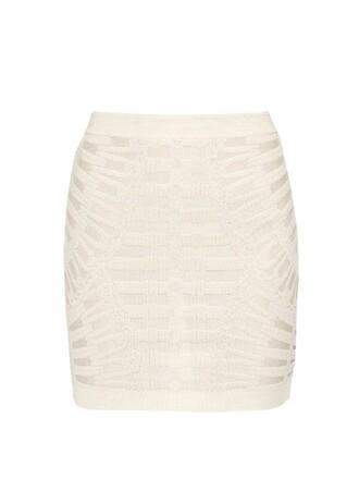 skirt mini skirt mini knit white