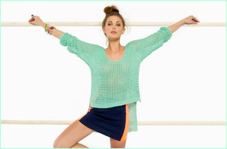 sweater nastygal shopnastygal.com nastygal.com mint sweater knitted sweater mint knit sweater mint knit bodycon blue skirt blue bodycon skirt blue and orange skirt navy blue skirt tight skit tight skirt body con skirt skirt jewels