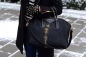 bag,givenchy,black,black bag,antigona,givenchy antigona,leather