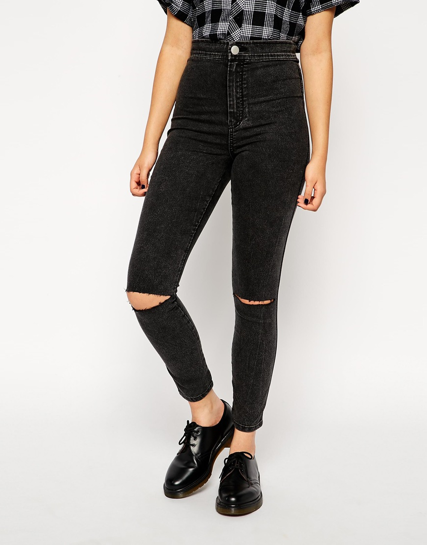 Ripped Jeans Leggings - Jeans Am