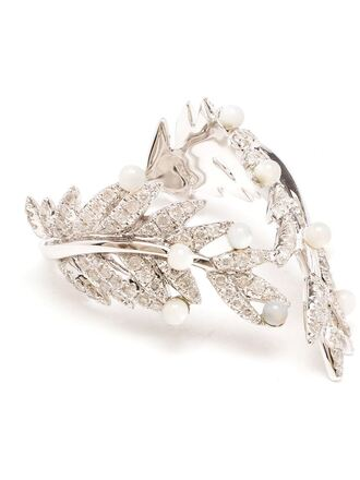 jewels 18kt white gold gold diamond pearl ring yvonne léon white gold