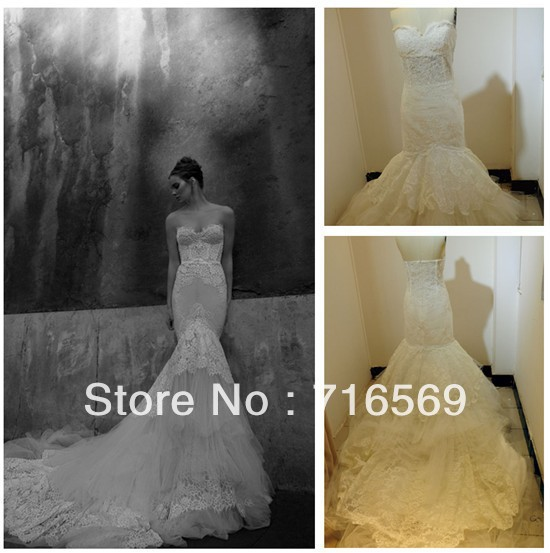 Inbal Dror Wedding Gowns For Sale: Aliexpress.com : Buy Free Shipping Popular Custom Made
