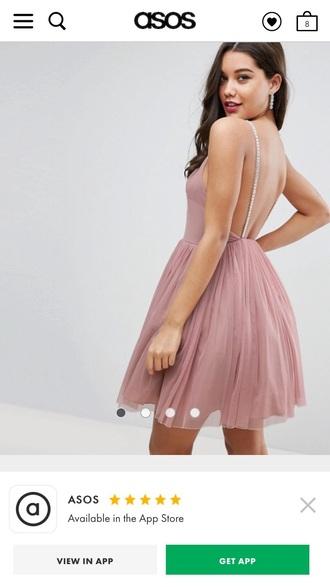 dress asos embellished strap mini tulle dressss