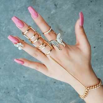 jewels cute statement ring gold gold ring knuckle ring ring hand jewelry hand chain