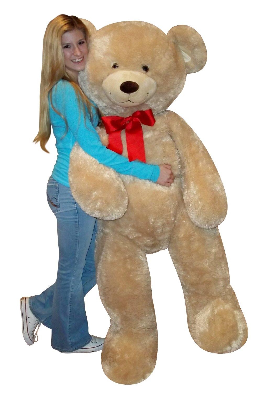 amazoncom fhc jumbo valentines day tan teddy bear toys games - Giant Teddy Bear For Valentines Day