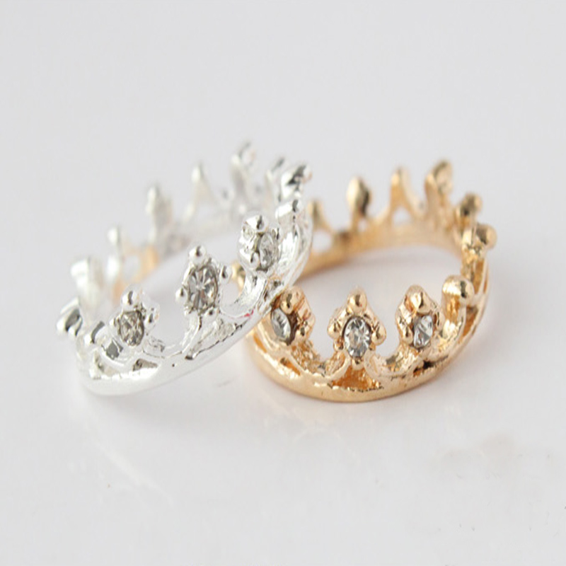 1PCS Free Shipping New 2014 Fashion Korean Vintage Crown Rings for Women Gold Sliver Color-in Rings from Jewelry on Aliexpress.com