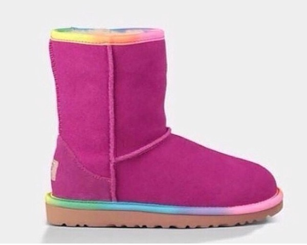 shoes ugg boots rainbow boots