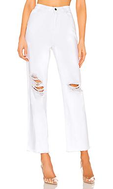 superdown Angel Straight Leg Jeans in White from Revolve.com