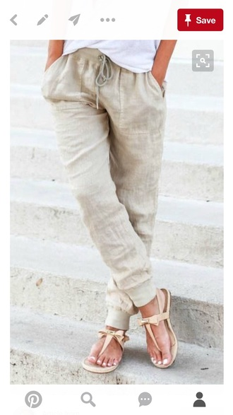 pants linen pinterest nude pants