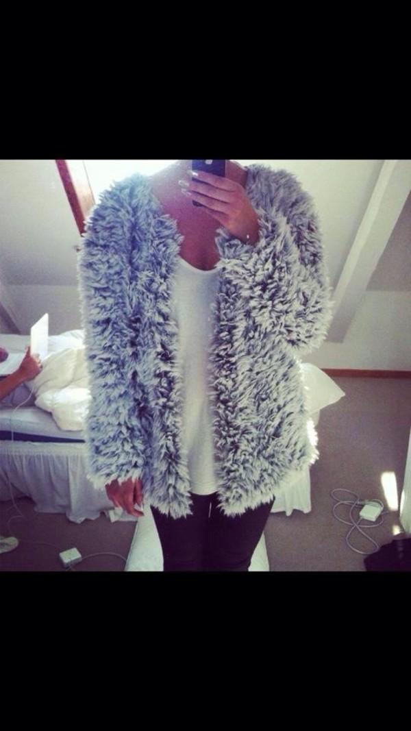 coat fuzzy coat jacket