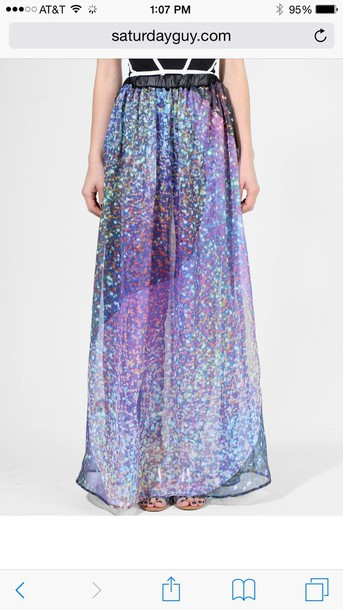 skirt girly holographic