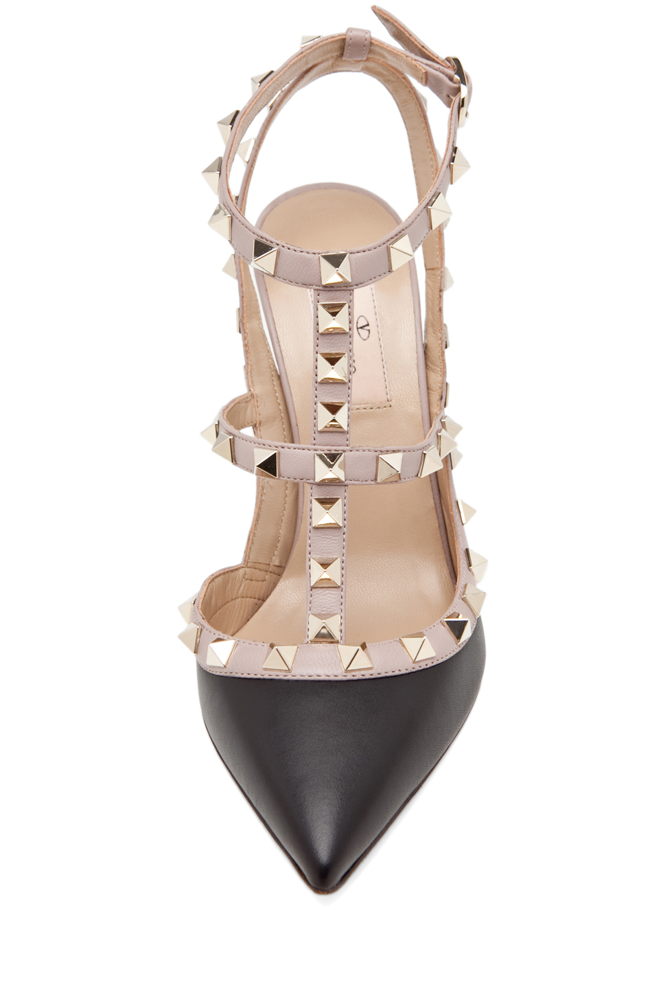 Valentino|Rockstud Leather Slingbacks T.100 in Black