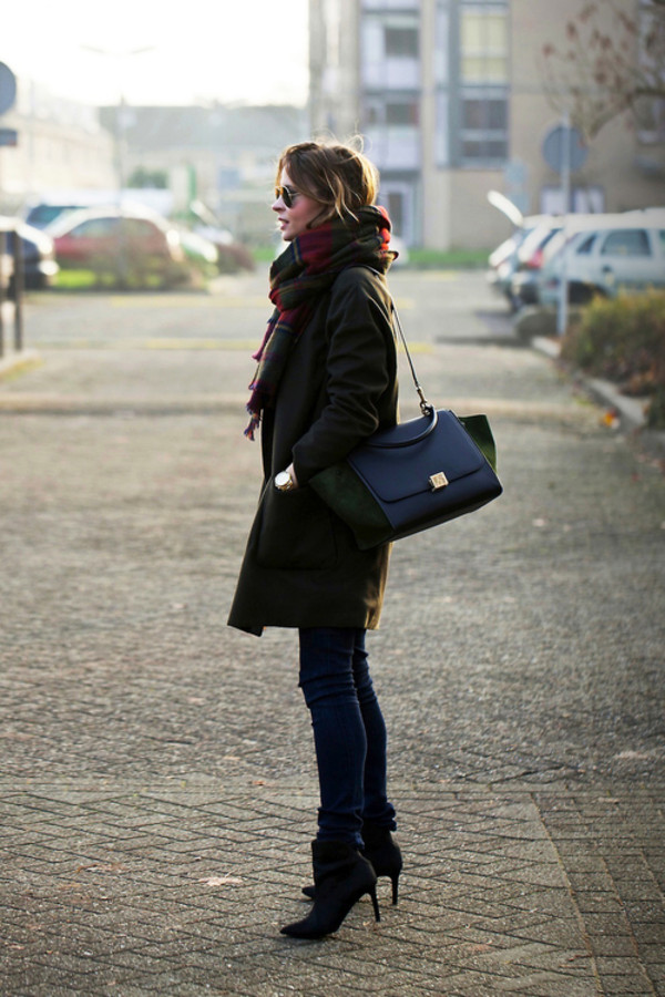 fash n chips coat jeans shoes scarf bag jewels