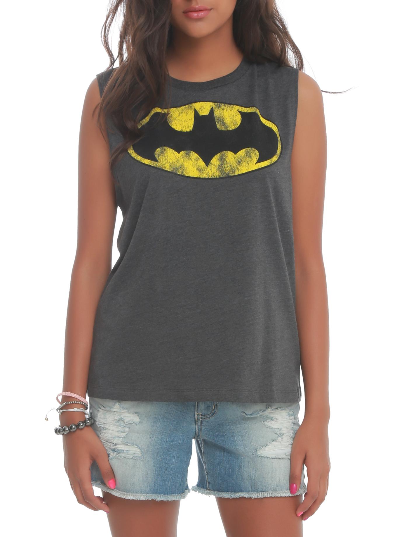 DC Comics Batman Striped Muscle Girls Top   Hot Topic