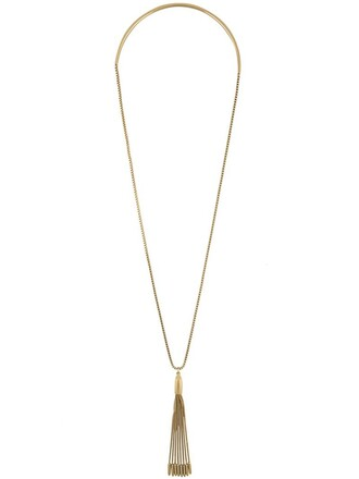 tassel necklace pendant metallic jewels