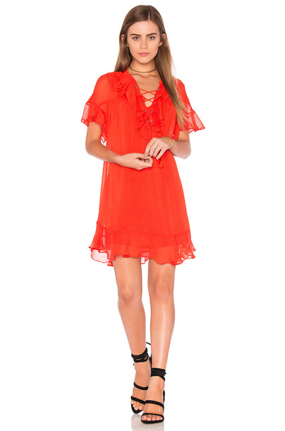 Endless Rose dress lace up dress lace orange