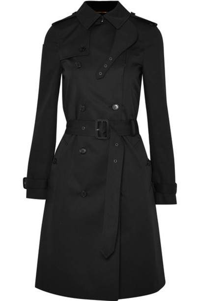 Saint Laurent coat trench coat black