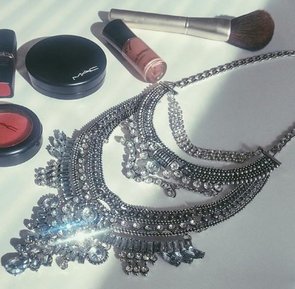 jewels jewelry fashion jewellery statement necklace statement piece bold necklace silver neck party statement