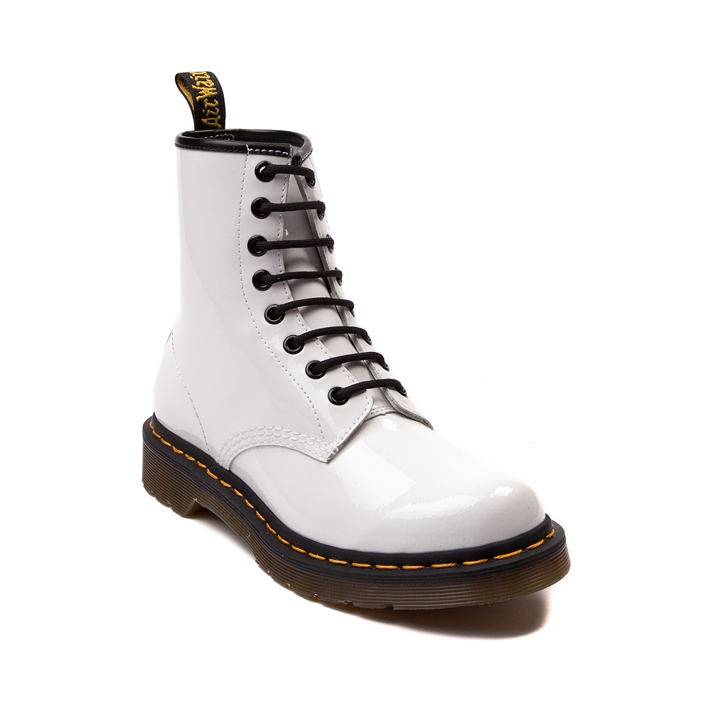 Dr. Martens 8-Eye Boot, White Patent | Journeys Shoes