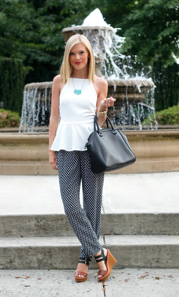 life with emily top pants shoes jewels bag