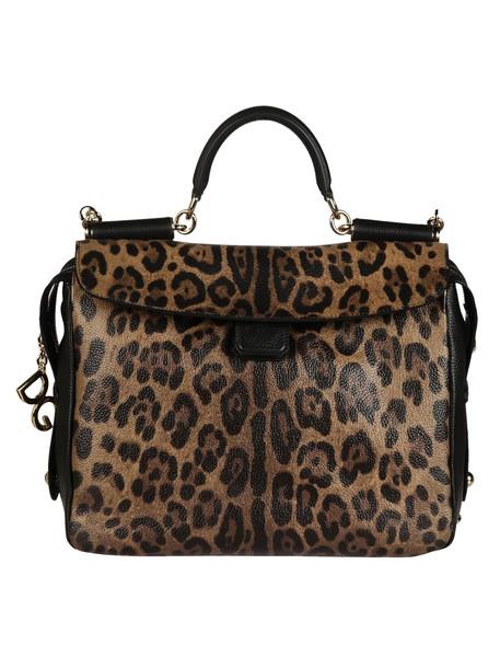 Dolce & Gabbana bag shoulder bag print leopard print black brown