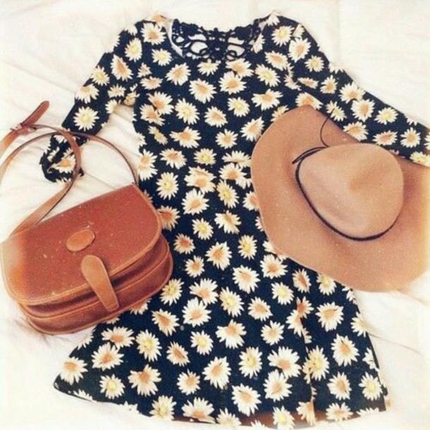 dress sunflower sunflower print spring floral