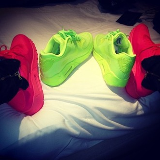 shoes workout air max neon bright pink green belt neon nike air nike air