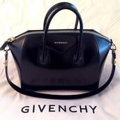 bag,givenchy,black,gold