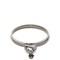 Faux pearl-embellished heart-drop bracelet